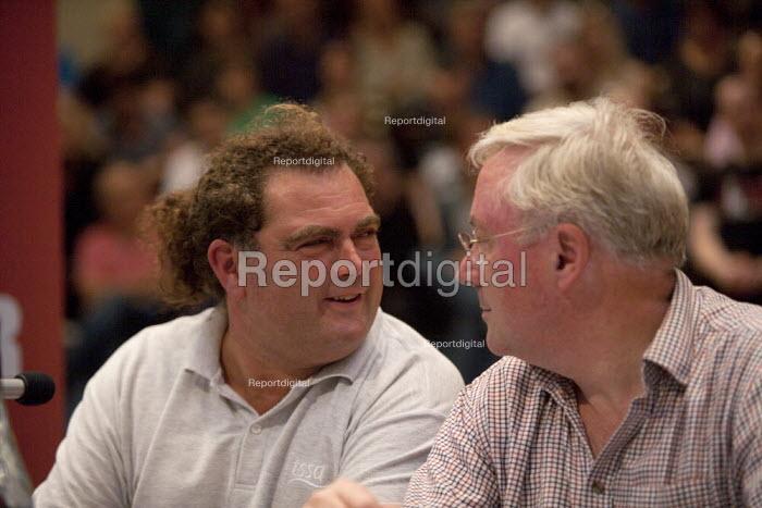 Jeremy Corbyn Rally Nottingham Manuel Cortes TSSA economist and Richard Murphy - John Harris - 2015-08-20
