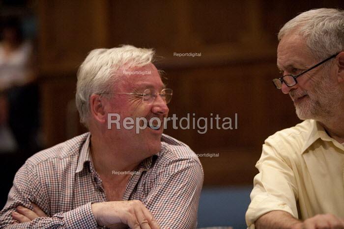 Jeremy Corbyn Rally Nottingham economist Richard Murphy speaking to Jeremy Corbyn - John Harris - 2015-08-20