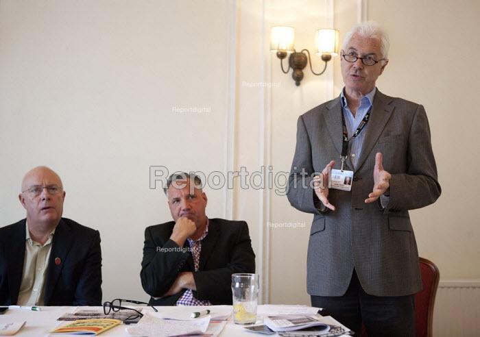 John Hendy QC Lawyer speaking NO TO EU, NO TO TTIP, TUC conference Brighton - John Harris - 2015-09-15