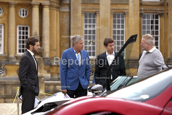 Tiff Needell and judges Salon Prive Supercar Show Blenheim Palace Oxfordshire - John Harris - 2015-09-05