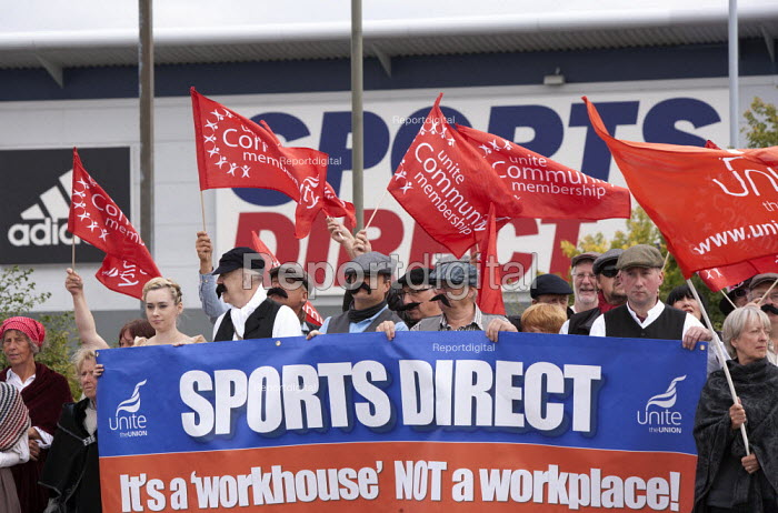 Unite campaign against Victorian work practices at Sports Direct, Shirebrook. A Workhouse not a workplace - John Harris - 2015-09-11