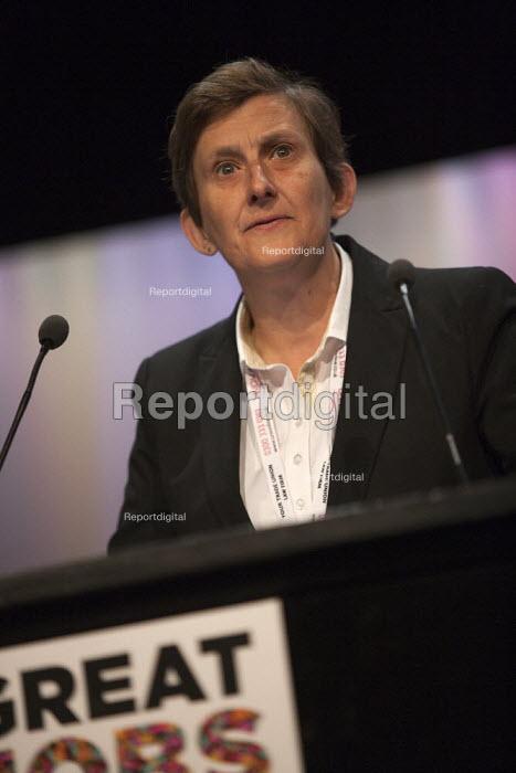 Maria Exall CWU speaking TUC conference Brighton - John Harris - 2015-09-14