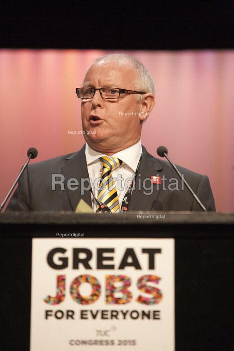 Ronnie Draper Gen Sec BFAWU TUC conference Brighton - John Harris - 2015-09-14