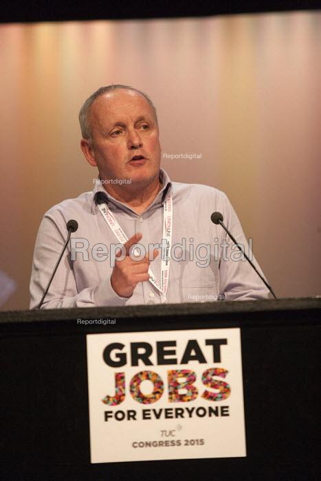 Tony Kearns speaking TUC conference Brighton - John Harris - 2015-09-14