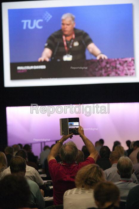 Delegates filming TUC conference Brighton - John Harris - 2015-09-15