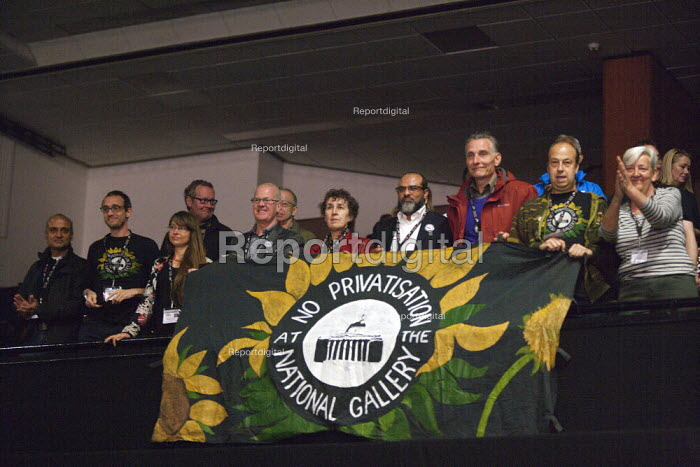 National Gallery strikers PCS TUC conference Brighton - John Harris - 2015-09-15