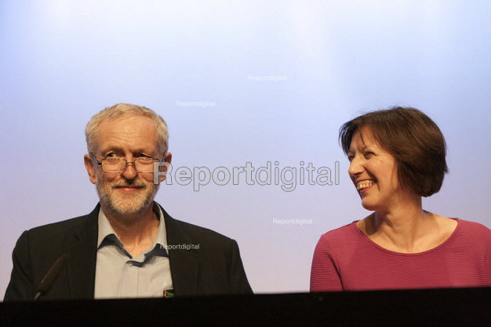 Jeremy Corbyn MP and Frances O'Grady, TUC Gen Sec TUC conference Brighton - John Harris - 2015-09-15