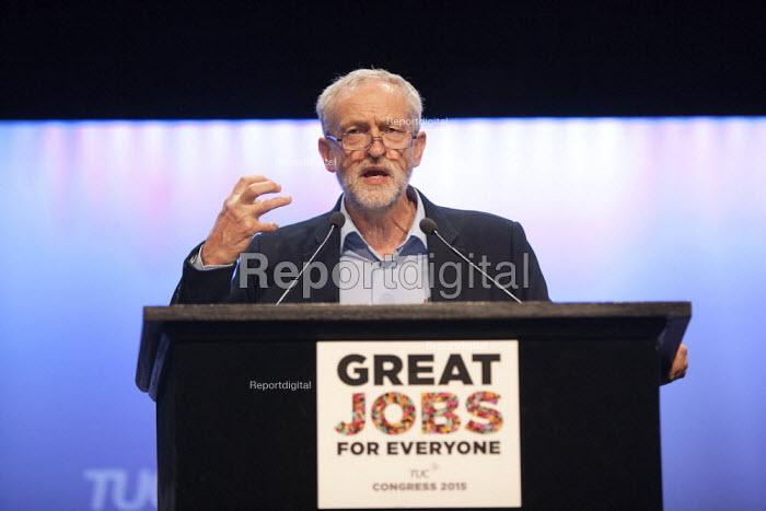 Jeremy Corbyn MP speaking TUC conference Brighton - John Harris - 2015-09-15