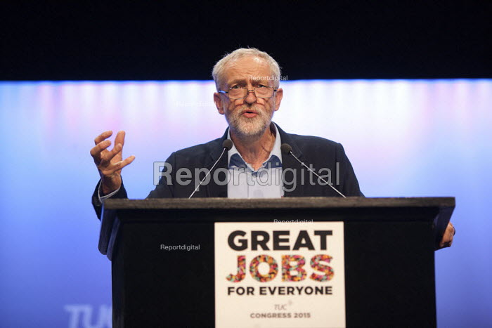 Jeremy Corbyn MP speaking TUC conference Brighton - John Harris - 2015-09-15
