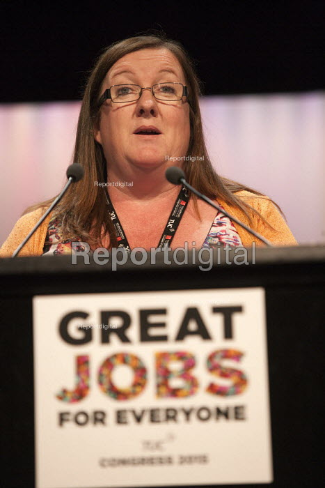 Yvonne Pattison NAPO speaking TUC conference Brighton - John Harris - 2015-09-15
