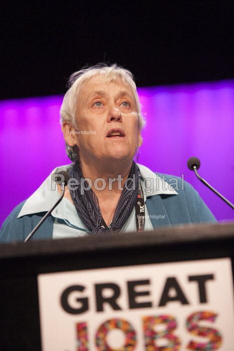 Joanna De Groot UCU speaking TUC conference Brighton - John Harris - 2015-09-15
