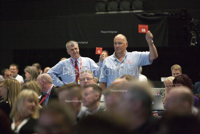 UCATT Card vote TUC conference Brighton - John Harris - 2015-09-15