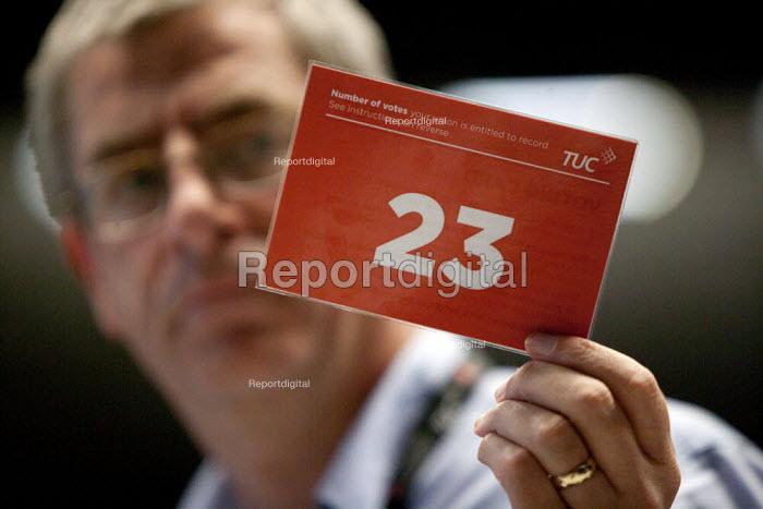 Card vote TUC conference Brighton - John Harris - 2015-09-15