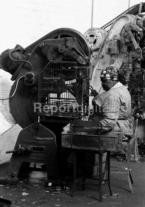 Working in a small engineering factory producing metal goods Birmingham - John Harris - 1987-04-27