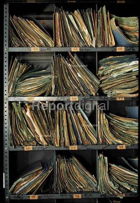 Folders of Inland Revenue Tax collection manual records - John Harris