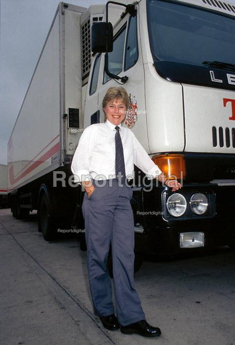 Female HGV driver for Tesco goods distribution - John Harris - 1991-08-07