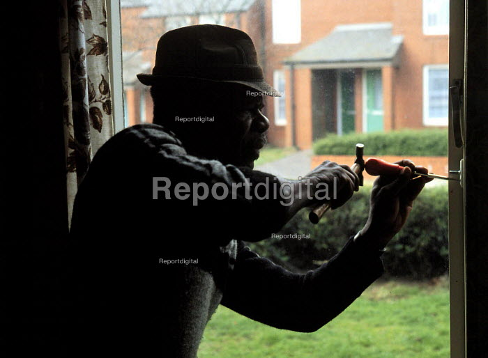 Crime prevention - fitting window locks to a ground floor window on a housing estate which has a lot of burglariesexact date unknown - John Harris - 1994-05-09