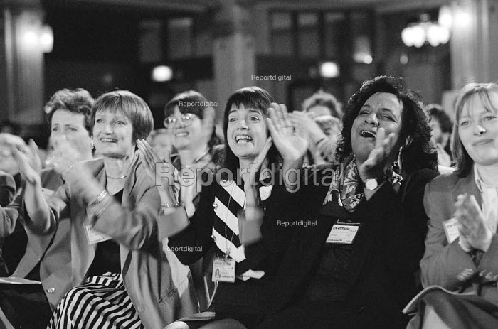 Women MPs and PPC applauding a speech infavour of positive discrimination for women, Labour Party Conference 1994 - John Harris - 1994-10-01