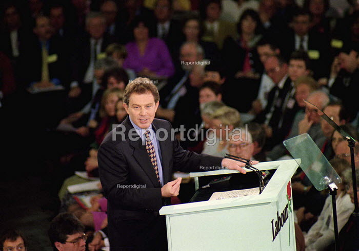 Tony Blair addressing Labour clause four conference 29/4/95 - John Harris - 1995-04-29