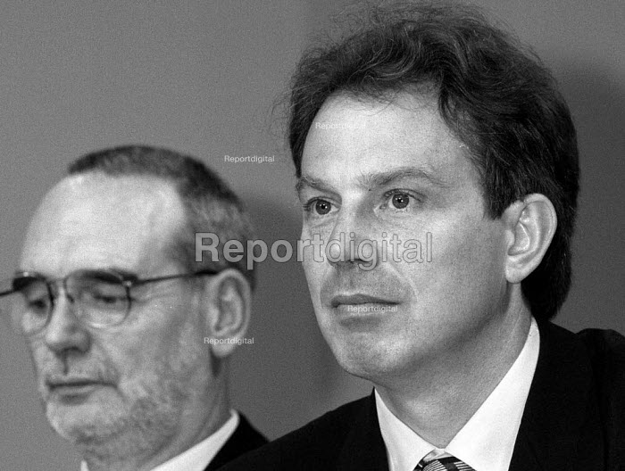 Tom Sawyer & Tony Blair MP at Labour Party Conference 1995 - John Harris - 1995-10-01