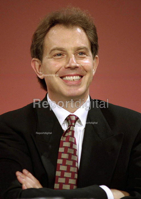 Tony Blair MP listening at Labour Party Conference 1995 - John Harris - 1995-10-01
