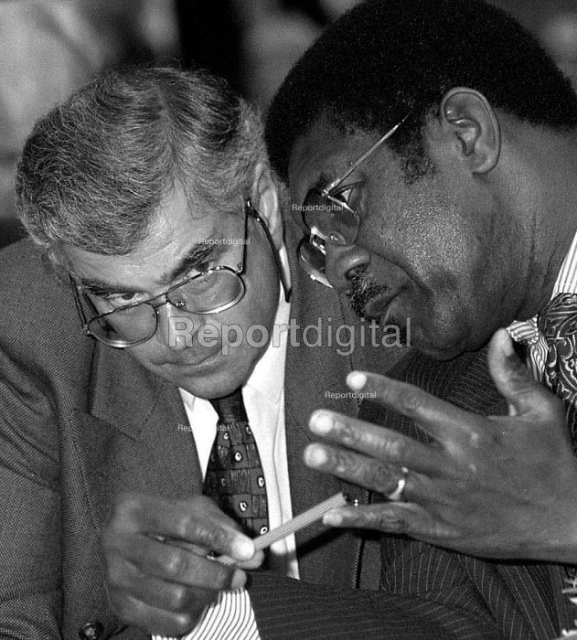 Tony Dubbins GPMU and Bill Morris TGWU Labour Party Conference 1995 - John Harris - 1995-10-01