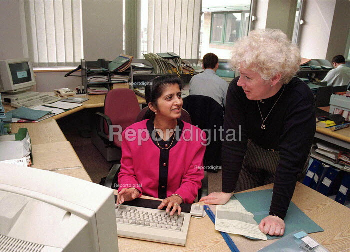 Inland Revenue office worker Leicester - John Harris - 1996-04-26