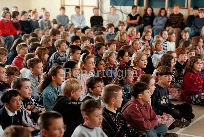 Assembly at a Combined Junior and Infant school. - John Harris - 1996-05-20