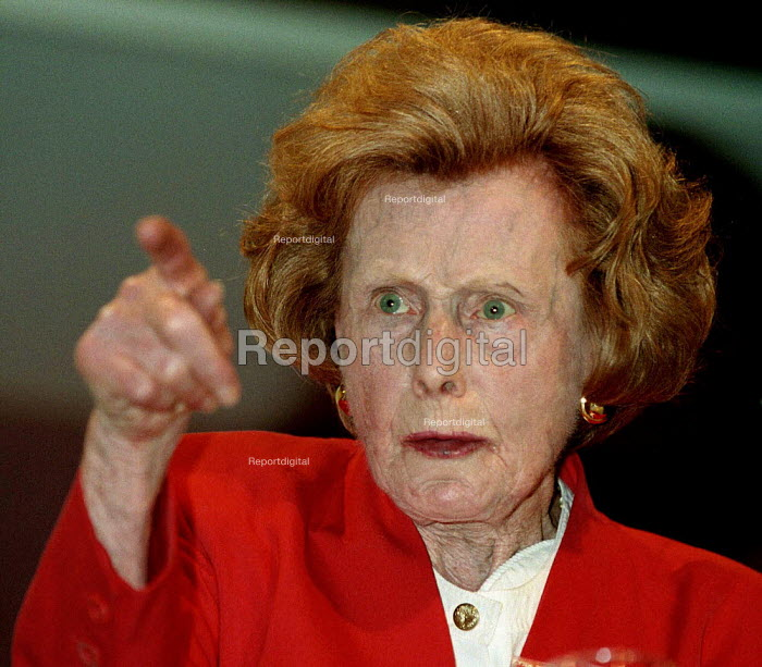 Barbara Castle MP speaking on pensions at Labour Party conference 1996 - John Harris - 1996-10-01