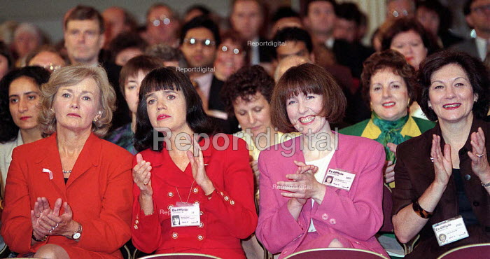 Women MPs applauding including Glynes Kinnock and Joan Ruddock MP Labour Party conference 1996 - John Harris - 1996-10-01
