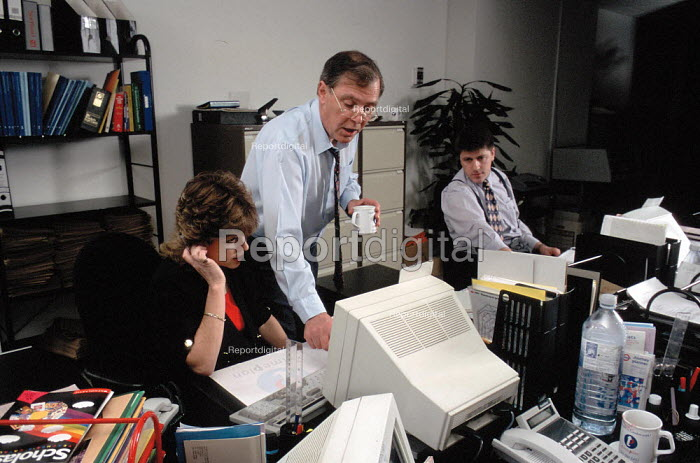 Manager and office staff at a personnel agency - John Harris - 1997-04-29