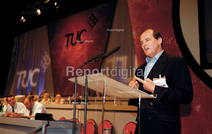 Tony Cooper EMA speaking at TUC Conference 1999 - John Harris - 1999-09-13