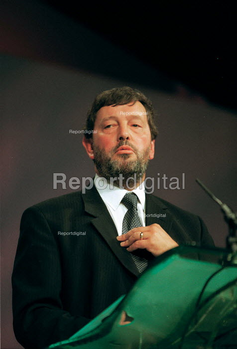 David Blunkett MP Labour Party Conference 1999 - John Harris - 1999-09-28