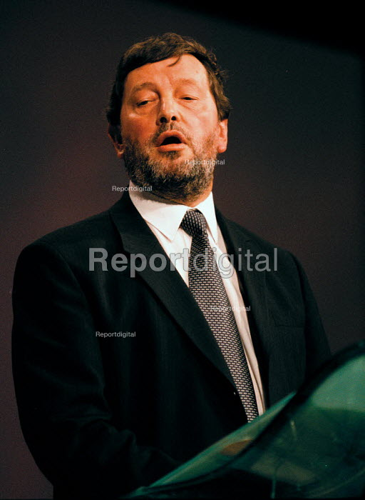 David Blunkett MP Sec of State for Education & Employment Labour Party Conference 1999 - John Harris - 1999-09-29