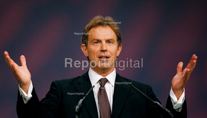 Prime Minister Tony Blair MP speaking Labour Party Conference 1999 - John Harris - 1999-09-28