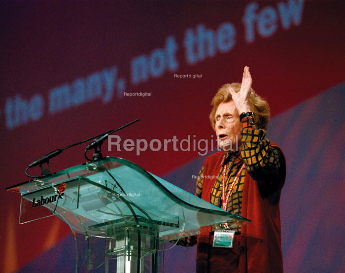 Barbara Castle MP speaking Labour Party Conference 1999 - John Harris - 1999-09-30
