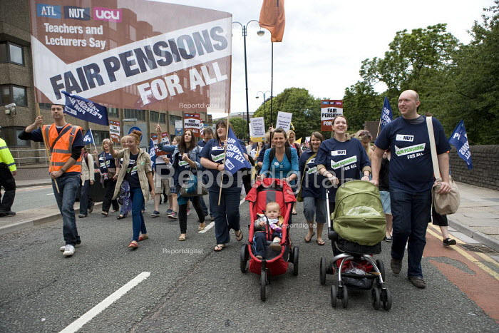 NUT members, Strike for fair Pensions, Cardiff, Wales - John Harris - 2011-06-30