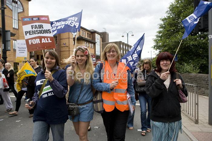 NUT members, Strike for fair Pensions, Cardiff, Wales - John Harris - 2011-06-30