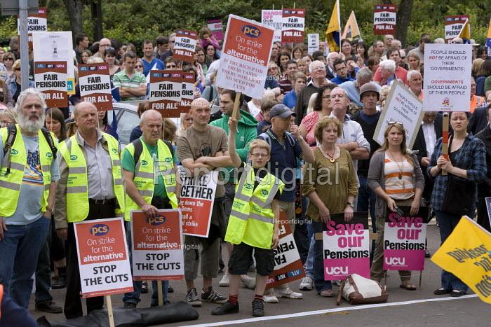 PCS, UCU and NUT members, Strike for fair Pensions, Cardiff, Wales - John Harris - 2011-06-30