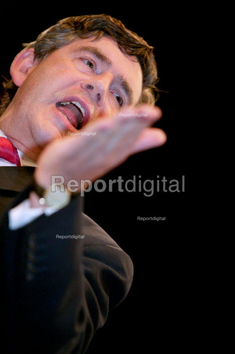 Gordon Brown speaks at Labour Party Conference 2003. - Jess Hurd - 2003-09-28
