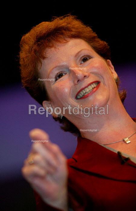 Hazel Bleirs Labour Party Conference 2003. - Jess Hurd - 2003-09-28