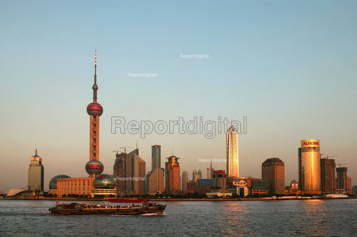 Skyline from the Bund of the Pearl Tower. Shanghai, China. - Jess Hurd - 2003-10-20