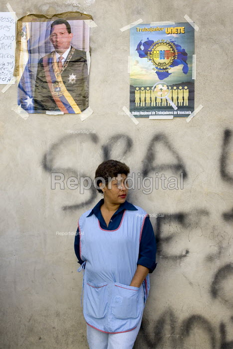 Workers at Selfex Textile Factory occupy the building demanding co-management .The action by members of the Unete trade union is supported by the government of President Hugo Chavez. Caracas, Bolivarian Republic of Venezuela. - Jess Hurd - 2006-01-19
