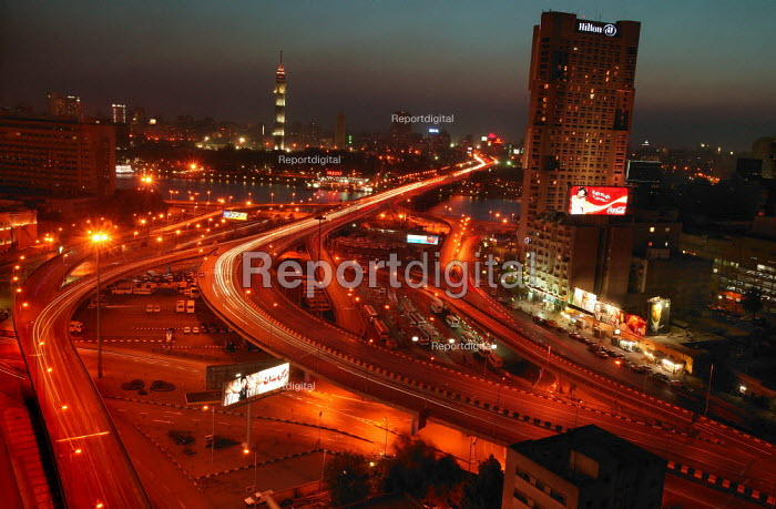 View of Cairo by night. Egypt. - Jess Hurd - 2005-03-28