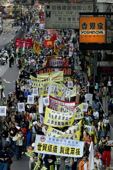 Migrants assembly and rally on the eve of the WTO Ministerial Meeting in Hong Kong. - Jess Hurd - 2005-12-11