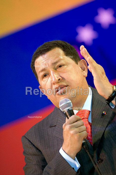 President of Venezuela Hugo Chavez visits London. Camden Town Hall. - Jess Hurd - 2006-05-14
