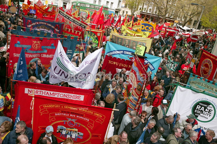 International Workers Day May Day march, London. - Jess Hurd - 2006-05-01