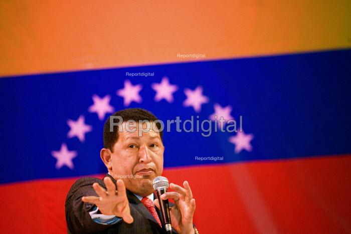 President of Venezuela Hugo Chavez visits London. Camden Town Hall. - Jess Hurd - 2006-05-14
