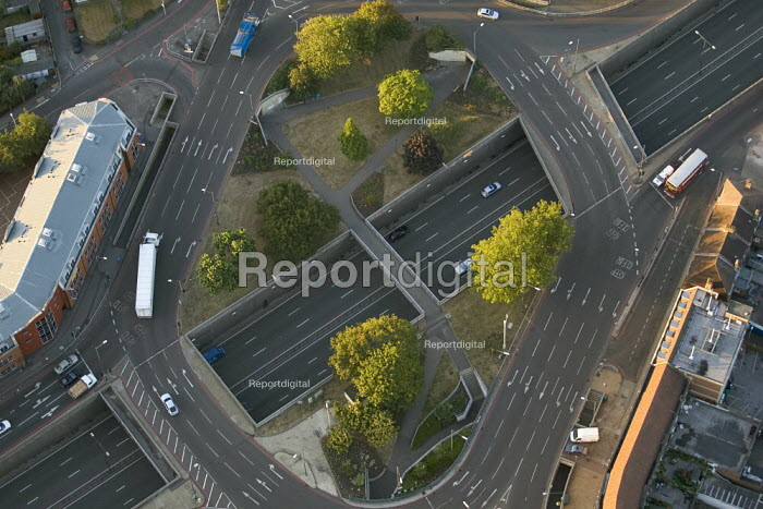 Junction road layout over the A3. Views over West London from a hot air balloon. - Jess Hurd - 2006-08-08