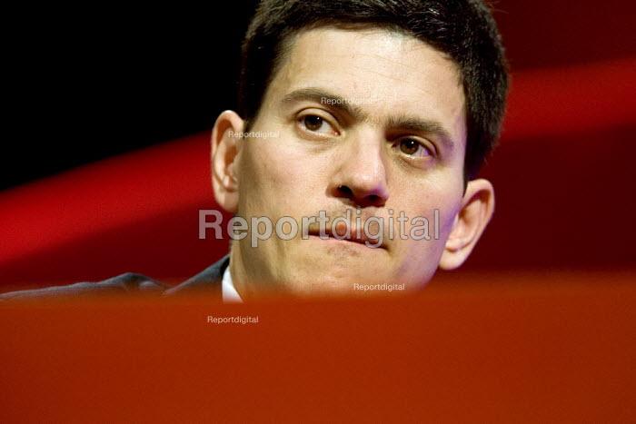 David Miliband MP addresses Labour Party Conference 2006, Manchester. - Jess Hurd - 2006-09-27